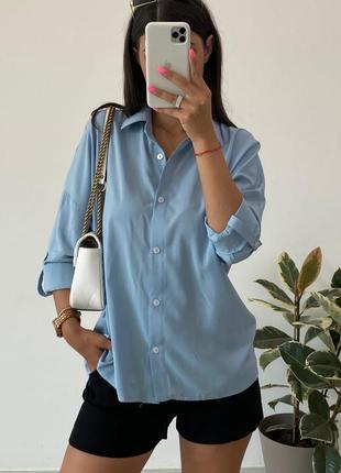 Женская рубашка свободного кроя