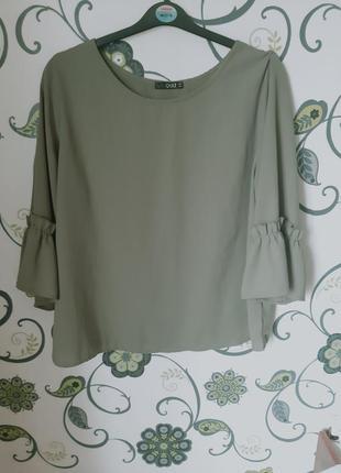 Блуза хаки 18 размер 52 размер батал