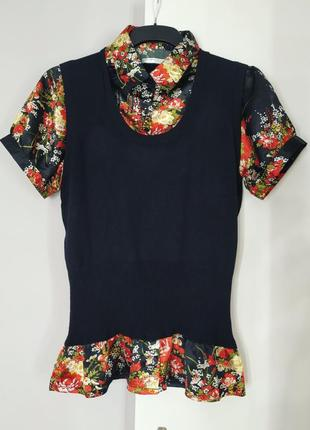 Атласная трикотажная блуза amaranto