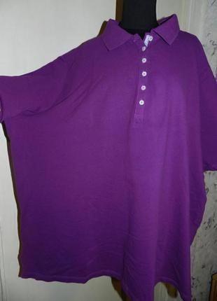 Натуральная хлопок футболка,мега батал,ulla popken