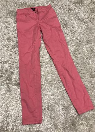 Розовые джинсы скинни, новые