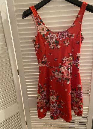 Платье колокольчик в цветы