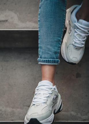 Nike m2k tekno white black кроссовки найк женские техно м2к обувь5 фото