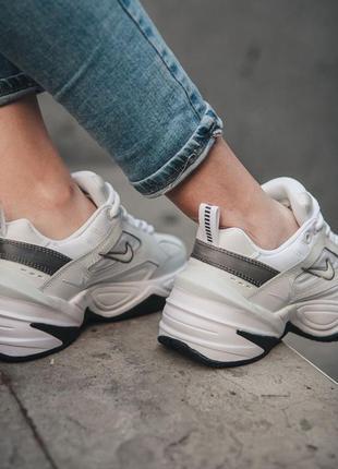 Nike m2k tekno white black кроссовки найк женские техно м2к обувь2 фото