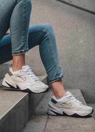 Nike m2k tekno white black кроссовки найк женские техно м2к обувь