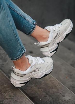 Nike m2k tekno white black кроссовки найк женские техно м2к обувь4 фото