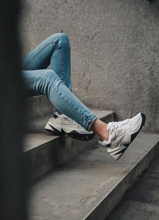 Nike m2k tekno white black кроссовки найк женские техно м2к обувь9 фото