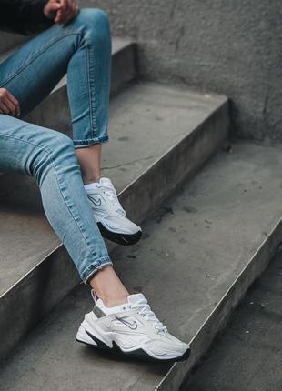 Nike m2k tekno white black кроссовки найк женские техно м2к обувь8 фото