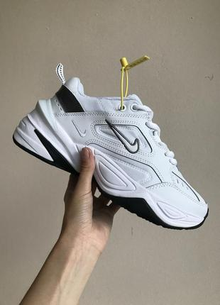 Кроссовки найк женские техно м2к обувь nike m2k tekno white black6 фото