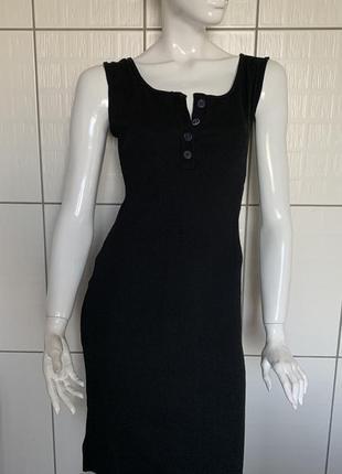 Платье чёрное , майка-платье чёрное