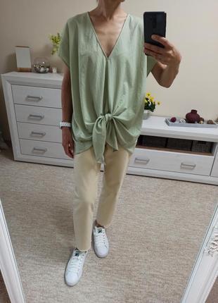 Красивая стильная летняя блуза свободного силуэта