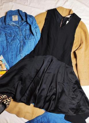 H&m платье рубашка балахон чёрное новое миди ассиметрия свободное оверсайз