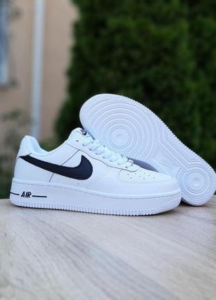 Nike air force 1 белые с чёрным