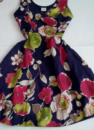 Летнее платье 50 52 размер миди бюстье повседневное тренд 2021 цветами сарафан