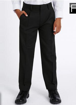 Школьные черные брюки f&f 11-12 лет, 146-152 см. идеальное состояние. школьная форма