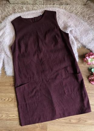 Свободное платье бордо(18р)3xl