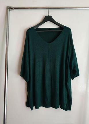 Трикотажная блузка большего размера батал