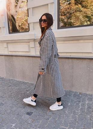 Женское пальто гусиная лапка тренд 2021