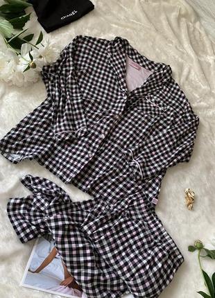 Классная мягкая пижама рубашка и бриджи