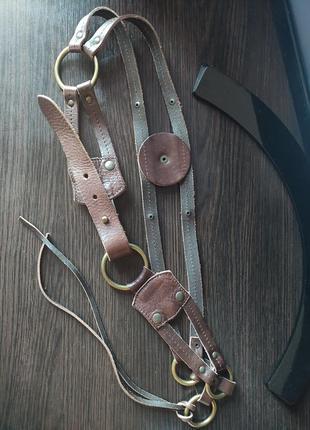 Promod пояс набедренный ремень женский коричневый кожаный