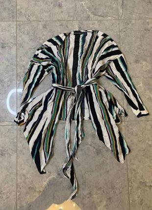 Распродажа все по 200 грн 🔥🔥🔥 легкая полосатая летняя блуза с поясом