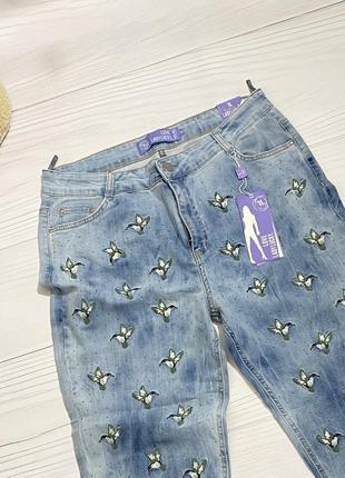 Шикарные джинсы lady lucky в стиле gucci с высокой посадкой🍒