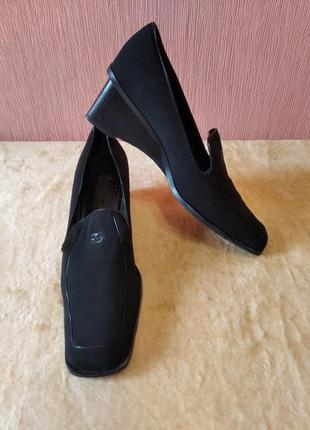 Туфли замша кожа