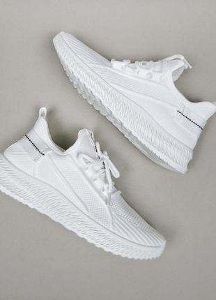 Кроссовки женские белые сетка кросы кросівки