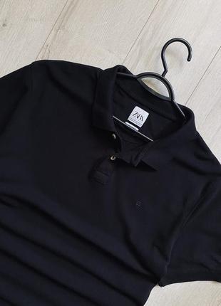 Zara new collection чёрное классическое поло