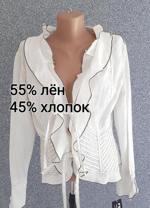 🌺🌸🍃 оригинальный пиджачок из натуральных тканей