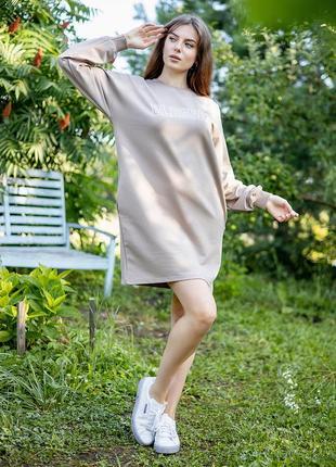 Ефектна красива зручна коротка спортивна сукня,плаття, туніка з кишенями оверсайз