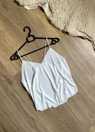 Топ, майка , футболка базовая белая