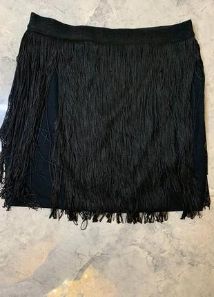 Летняя распродажа 🔥🔥🔥 черная мини  юбка бахрома