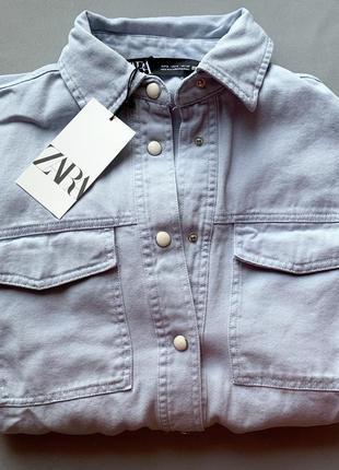 Хлопковая куртка рубашка с поясом