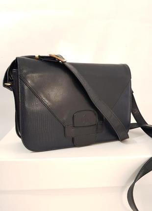 Породистая кожаная сумка crossbody guiliano dorre италия3 фото