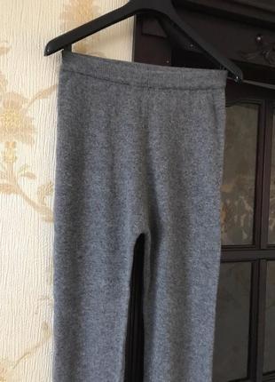 Теплые вязаные штаны шерсть ангора