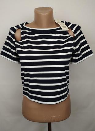 Блуза топ новая модная в полоску miss selfridge uk 14/42/l