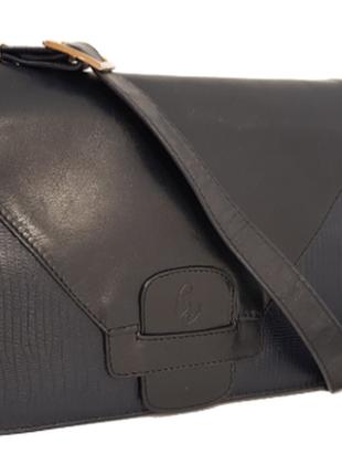 Породистая кожаная сумка crossbody guiliano dorre италия4 фото