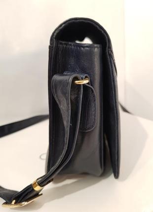 Породистая кожаная сумка crossbody guiliano dorre италия7 фото