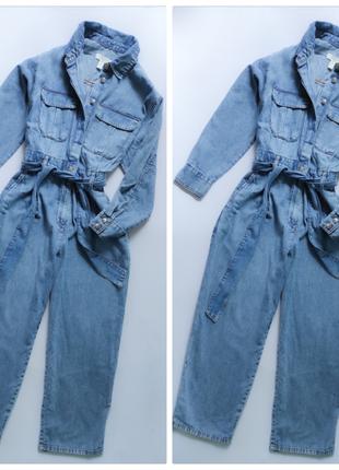 Комбинезон джинсовый стильный