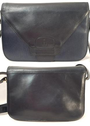 Породистая кожаная сумка crossbody guiliano dorre италия9 фото