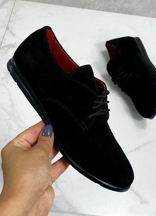 36-41 рр туфли, мокасины, лоферы низкий ход натуральная кожа/замш3 фото