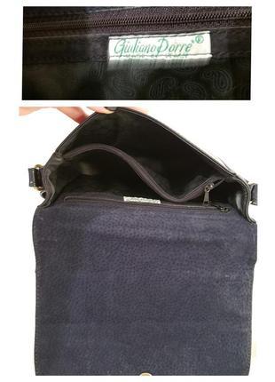 Породистая кожаная сумка crossbody guiliano dorre италия10 фото