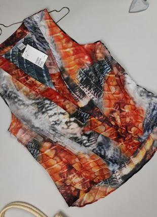 Блуза майка новая стильная оригинал h&m uk 10/38/s