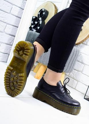 36-41 рр туфлі - броги, черевики на платформі натуральна замша / шкіра3 фото