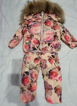 Натуральный зимний костюм
