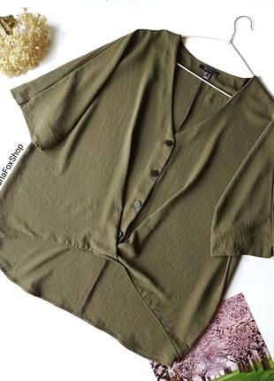 Блуза вільного крою оверсайз хакі, новая  блуза цвета хаки  primark