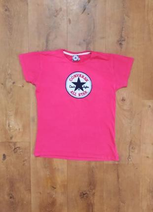 Качественная женская футболка converse фирменная женская футболка из хлопка малиновая женская футболка хлопковая женская футболка малинового цвета