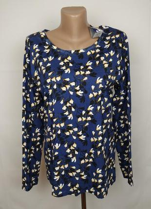 Блуза кофточка новая хлопковая в принт uk 16-18