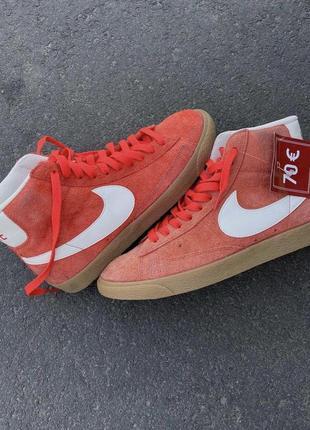 Nike blazer высокие оригинал красные замшевые блейзеры high кеды